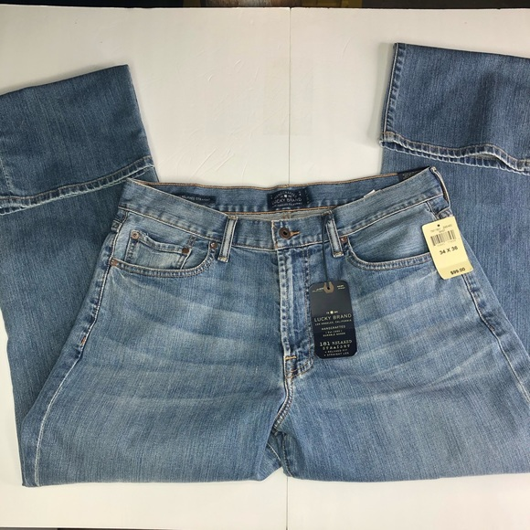 Lucky Brand Other - Lucky Brand Mens 34x36 Straight 181 Jeans  *STAIN*